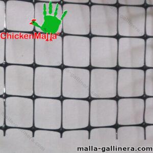 Malla plástica color negro de muestra